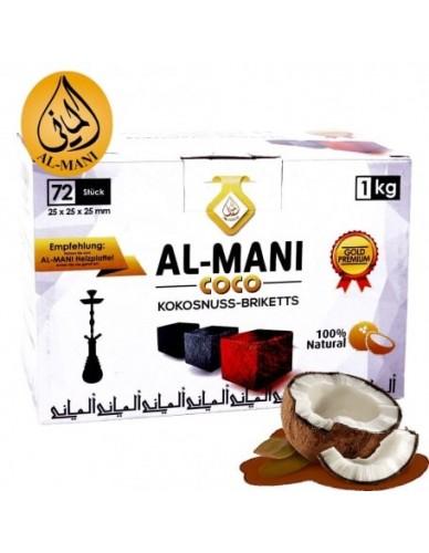 Charbon Naturel Al-Mani Coco 72 pièces 1kg
